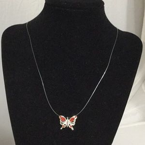 Jewelry - Dainty Red Butterfly Necklace